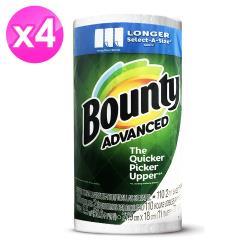 美國Bounty廚房紙巾-白色隨意撕107張-4入組