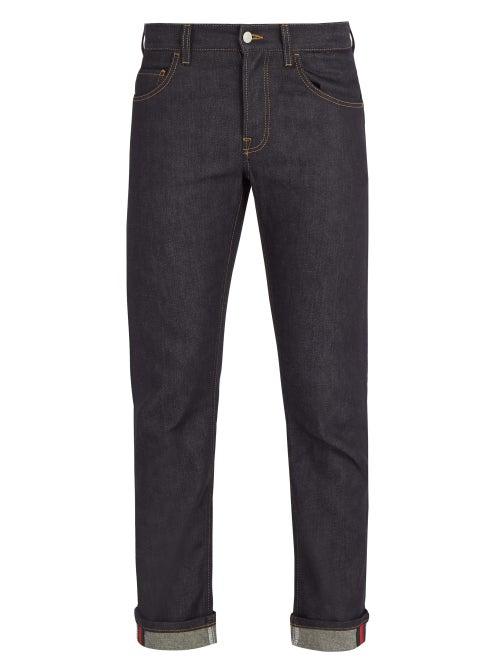 Gucci - Mid-rise Straight-leg Jeans - Mens - Blue