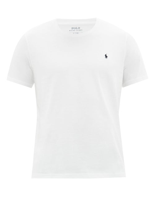 Polo Ralph Lauren - Logo-embroidered Cotton Pyjama T-shirt - Mens - White
