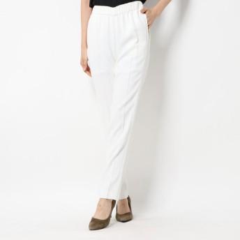 リネーム Rename ウエストゴム 裾サイドジッパーパンツ (ホワイト)