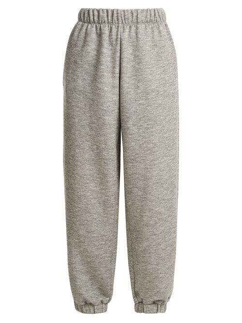 Raey - Elasticated-waist Cashmere-blend Track Pants - Womens - Grey Marl