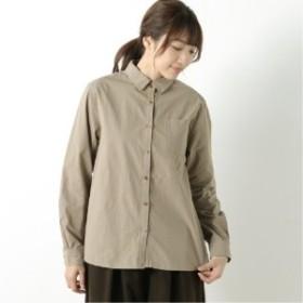 張りのあるコットン素材のハイカウントシャツ