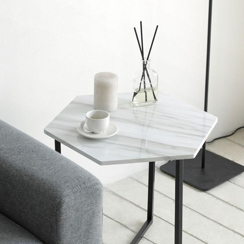 諾迪北歐風六角邊桌 白色