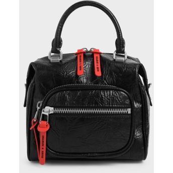 ナイロンフロントジップバッグ / Nylon Front Zip Bag (Black)