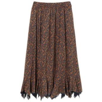HiROMITHiSTLE ヒロミシスル / HiROMITHiSTLE / ヒロミシスル ペイズリープリント裾スクエアフリルスカート
