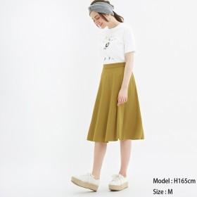 (GU)ポンチフレアスカート YELLOW M