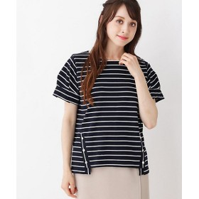 <grove/グローブ> 袖タック裾釦付きプルオーバー(2001524089) アオ【三越・伊勢丹/公式】