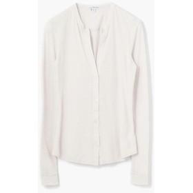 トゥモローランド コットンリネン ジャージーシャツ WYH3765 レディース 81シルバー 2(L) 【TOMORROWLAND】