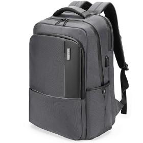 ZLX ビジネスコンピュータバッグバックパック大学生バッグ旅行バックパック大容量USB充電学生バッグ-gray