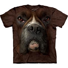 『摩達客』(預購) 美國進口【The Mountain】自然純棉系列 拳師犬臉 T恤