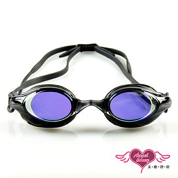 天使霓裳 抗UV防霧休閒泳鏡(8300-黑F)