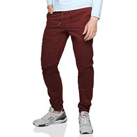 Matchstick(マッチスティック)ジョガーパンツ メンズ 大きいサイズ 迷彩 ツイル スウェットパンツ テーパード ズボン メンズ #6535 (ワインレッド, XL/34)