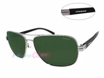 Polaroid 寶麗來 舒適偏光太陽眼鏡 A4402 鐵灰框墨綠偏光鏡片