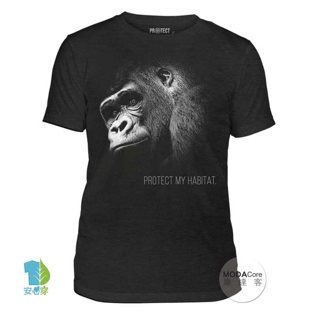 【摩達客】(預購)美國The Mountain保育系列 保護猩猩 中性短袖紀念T恤