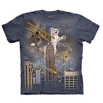 『摩達客』(預購) 美國進口【The Mountain】自然純棉系列 小貓之王 T恤