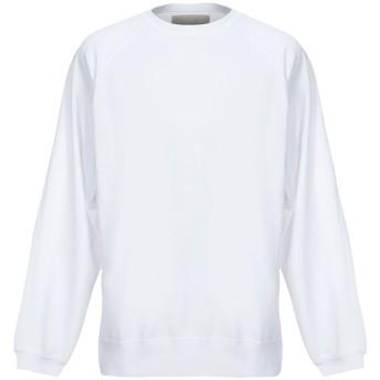 《セール開催中》CORELATE メンズ スウェットシャツ ホワイト L コットン 100%