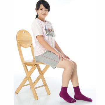 【KEROPPA】可諾帕6~9歲學童專用吸濕排汗短襪x3雙(男女適用)C93007-A紫紅