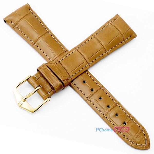 【海奕施 HIRSCH】鱷魚皮錶帶 London L 亞光蜂蜜黃 附工具 04207075 優雅絲質光澤