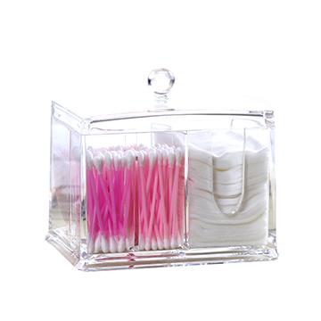壓克力四格化妝棉盒 化妝 收納盒 壓克力化妝收納盒