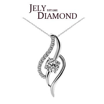 【JELY】永恆0.30克拉-H&A八心八箭美鑽項鍊