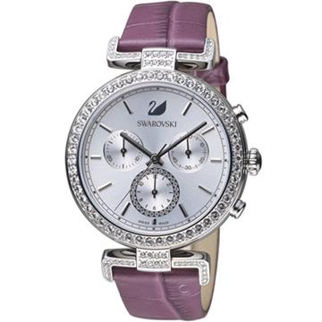 5296835  白x紫色  施華洛世奇SWAROVSKI ERA JOURNEY系列黛紫迷耀計時腕錶