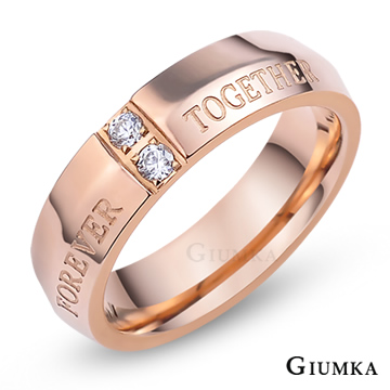 【GIUMKA】十字誓言戒指 玫金細版 MR4098-2
