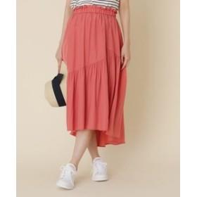 【Couture brooch:スカート】【洗える】イレヘムティアードスカート