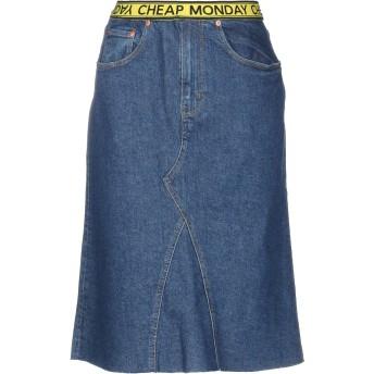《セール開催中》CHEAP MONDAY レディース デニムスカート ブルー 36 コットン 99% / ポリウレタン 1%