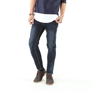 【SCORPION】深藍後刺繡牛仔褲