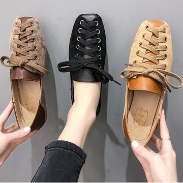 【韓國K.W.】Y3338 好評加碼熱賣款綁帶平底鞋