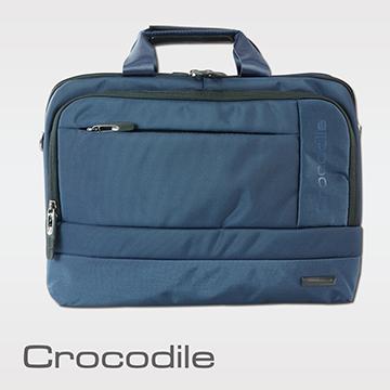 Crocodile Biz 3.0 系列雙拉鍊橫式公事包   0104-07809