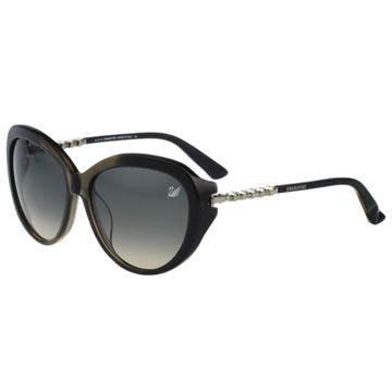 SWAROVSKI 貓眼 水鑽 太陽眼鏡(灰黑色)