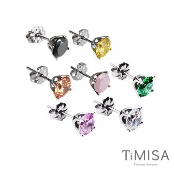 【TiMISA】 純鈦簡愛(M)(三色) 純鈦耳環一對