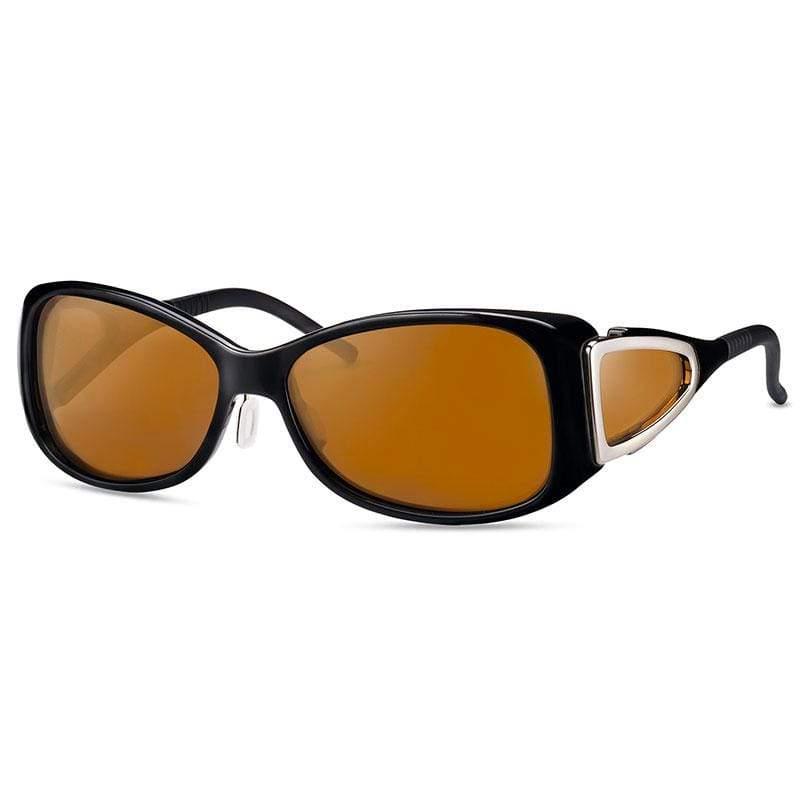 wellnessPROTECT 德國製高防護包覆式濾藍光眼鏡 85%深茶色 女版框 (56□15-130)