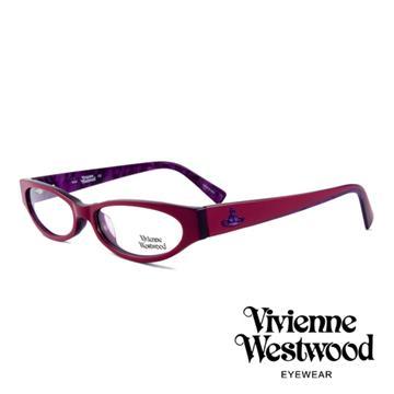 【Vivienne Westwood】英國薇薇安魏斯伍德★復古時尚造型光學眼鏡(紅紫 VW152-03)