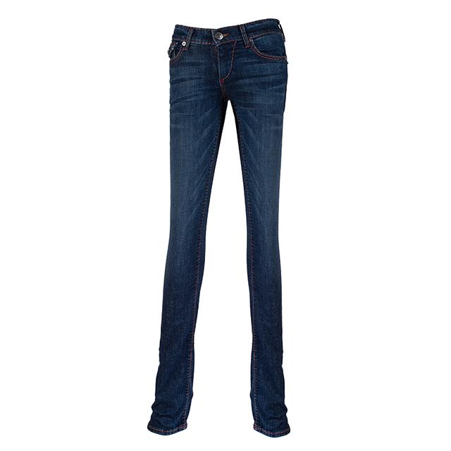 【美國True Religion】女CORA SPT袋蓋直筒牛仔褲