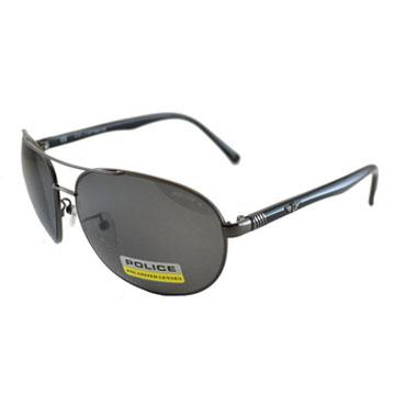 POLICE 時尚飛行員偏光太陽眼鏡★金屬質感框面★ POS8641-568P