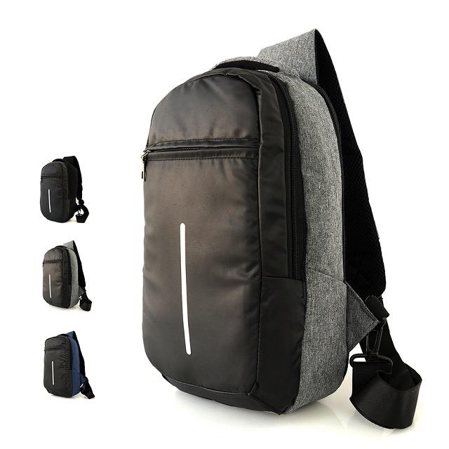 簡約防水輕量雙層充電單肩背包包 斜背斜胸包 NEW STAR BK268