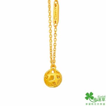 幸運草 吸引力黃金鎖骨項鍊