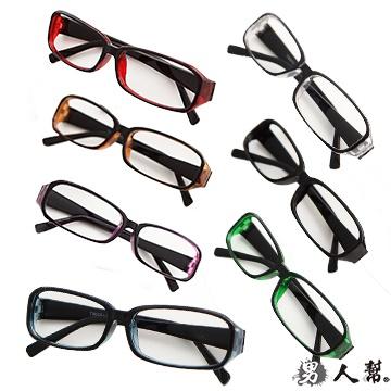 【男人幫】Z0193*雜誌人氣【學院風果涷膠框平框眼鏡】