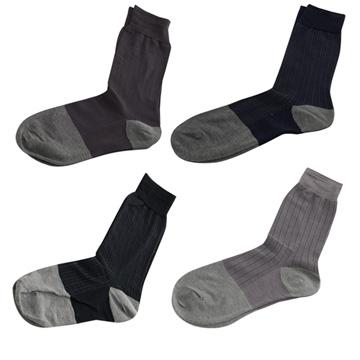【KEROPPA】可諾帕奈米竹炭絲光棉紳士男襪x綜合4雙C90007-A