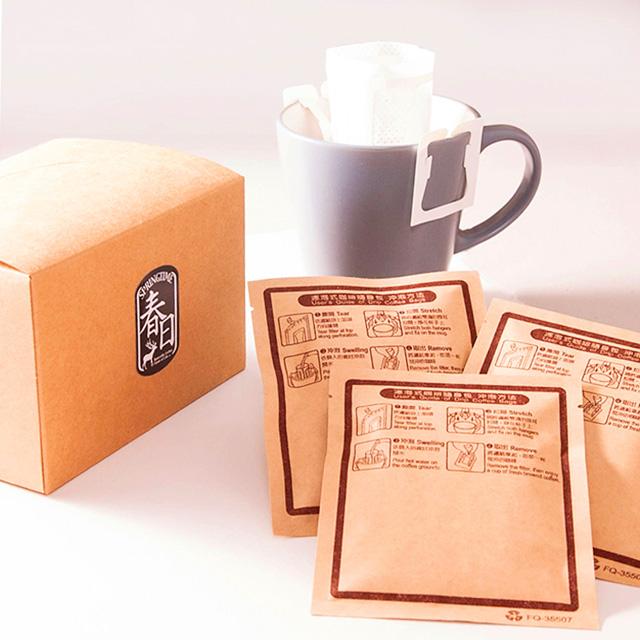 春日咖啡-肯亞蜂蜜 Top AA級莊園豆 瀘掛式咖啡10入(盒裝)