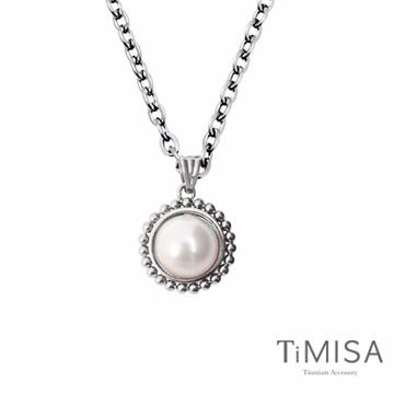 TiMISA 珍心真意-白珍珠 純鈦項鍊