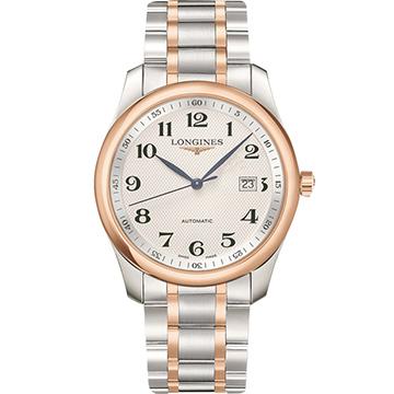 LONGINES 浪琴 Master 巨擘系列機械腕錶 銀x雙色版 40mm L27935797