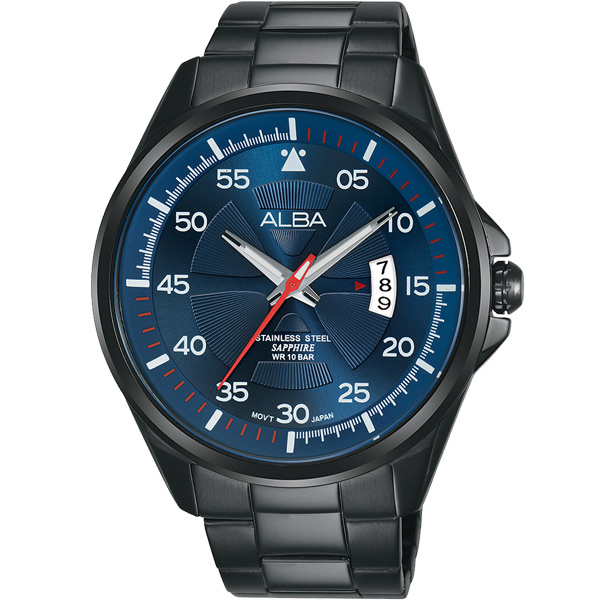 ALBA雅柏 陽光活力運動錶(藍黑/44mm) VJ42-X268B AS9H39X1