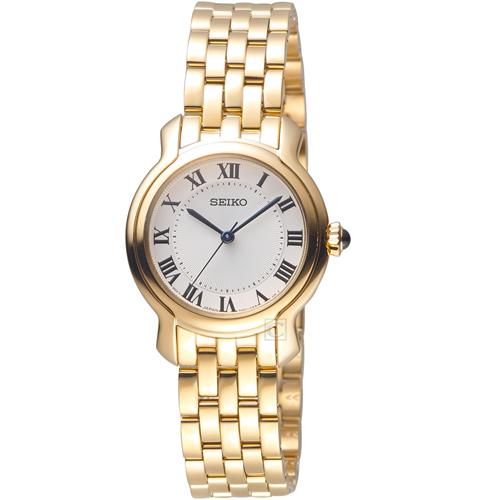 SEIKO精工羅馬經典時尚碗錶 7N01-0GX0G SRZ520P1 玫瑰金