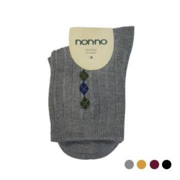 【non-no 童襪】菱格羅紋短襪(童)28379-2/28386-2