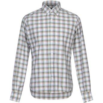 《セール開催中》ORIAN メンズ シャツ ミリタリーグリーン 39 コットン 100%