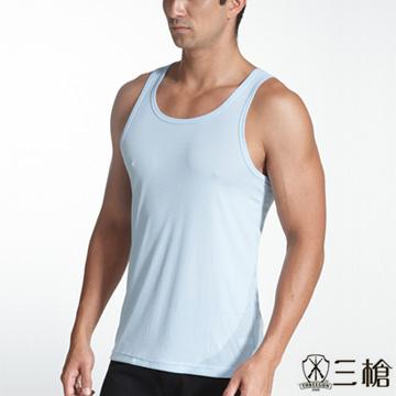 【三槍牌】時尚經典E棉吸濕排汗男窄肩羅紋背心~2件組