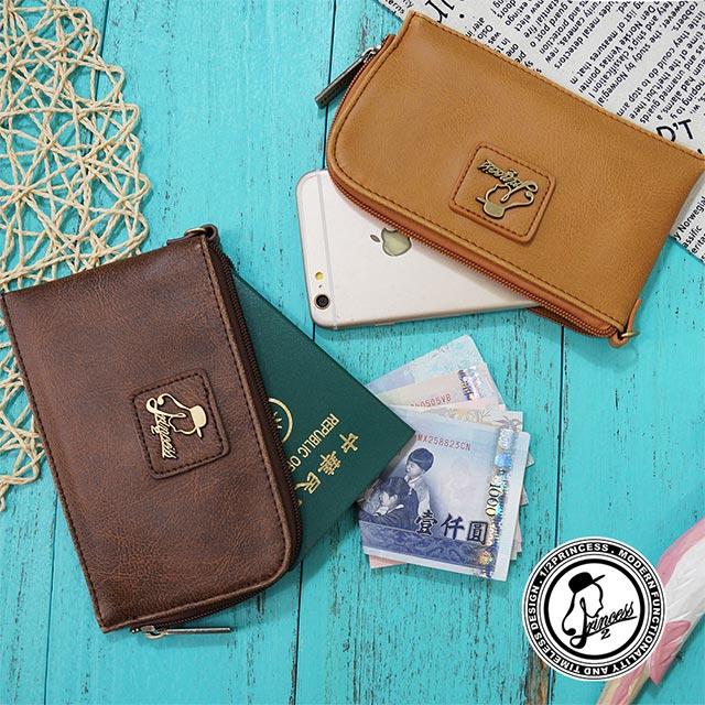 1/2princess二代復古皮革品牌簡約風格手機包護照包 -3色[A0024-1]